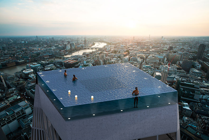 Only for brave: this skyscraper in London will have a pool on the roof